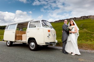 VW Camper wedding car Stannedge Edge, Derbyshire